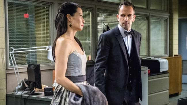 Elementary stars Lucy Liu and Jonny Lee Miller.