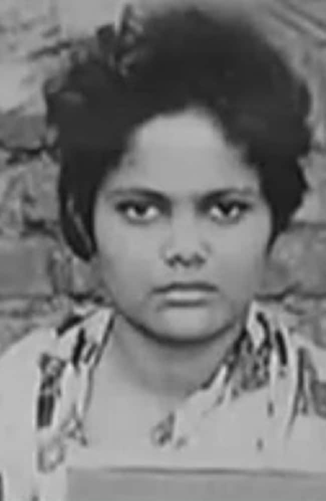 Seema Gavit in a police mugshot following her arrest at the age of 25 for multiple murder.