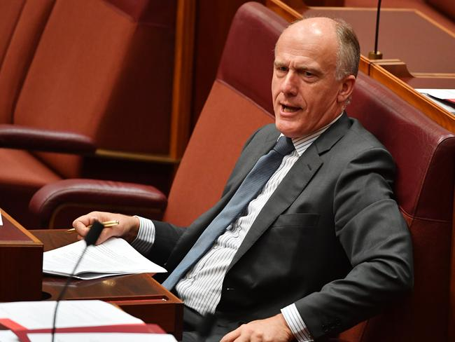 "Senator Eric Abetz says the violent incident wasn't typical of the 'Yes' campaign but highlights the general ""ugliness"" of the movement. Picture: AAP"