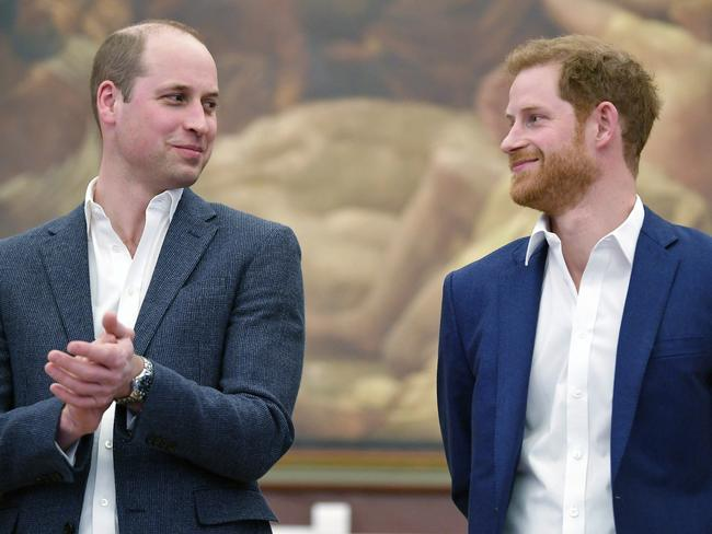 Prince William will be Prince Harry's best man. Picture: Toby Melville/PA via AP