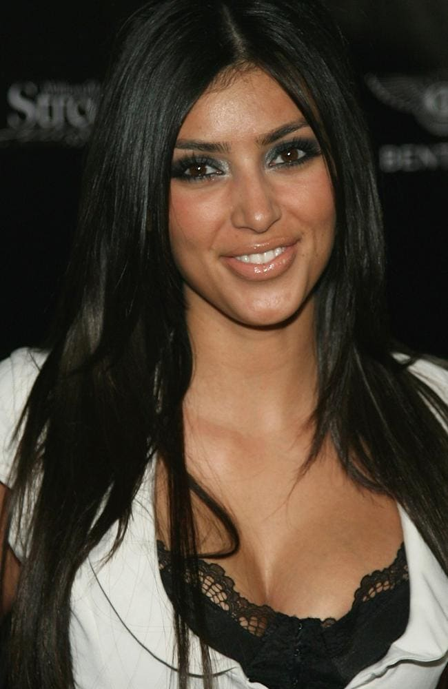 Fresh-faced Kim Kardashian, circa 2007. Picture: Getty Images