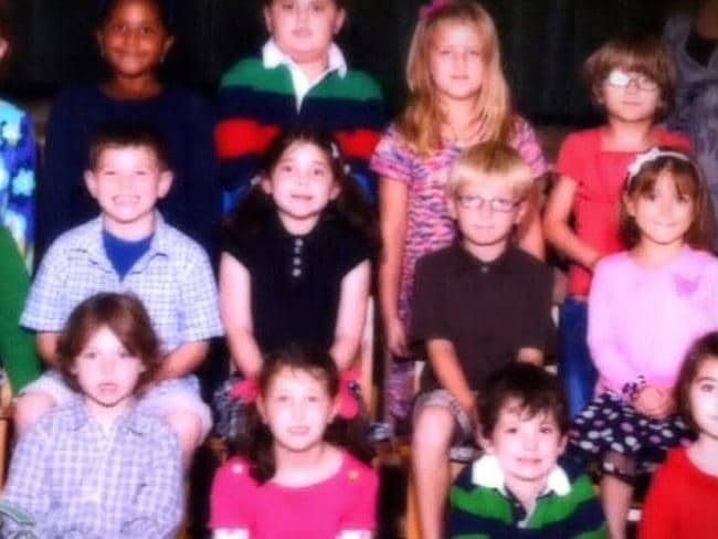 This is the last tragic picture of the group of Sandy Hook first graders who were wiped out in a hail of bullets on Friday by crazed gunman Adam Lanza.