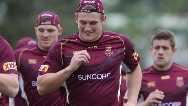 Coen Hess training with the Maroons.