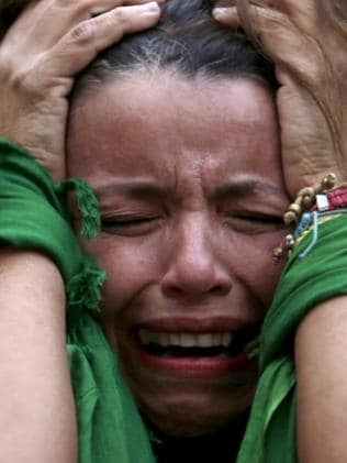 This Brazil soccer fan can't hide her utter devastation.