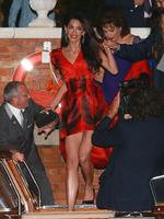 Amal Alamuddin seen the night before her wedding in Venice Italy. Picture: Splash