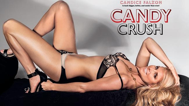 Candice Falzon as she appears in Maxim's January spread. Picture: Wayne Daniels/Maxim magazine