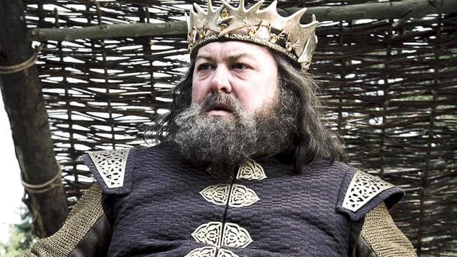 King Robert in happier days, when other people were doing all the dying.
