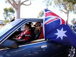 Hundreds of Holdens cruise through Adelaide during the Holden Dream Cruise. Picture: Dylan Coker