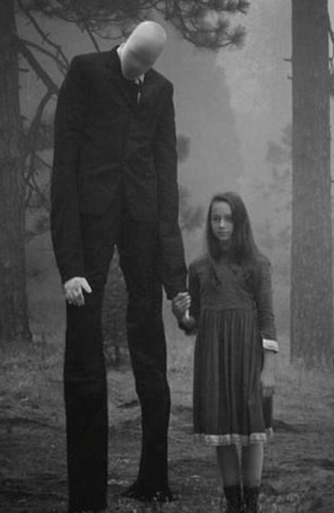 Evil character ... how the Slenderman is portrayed online. Picture: Supplied