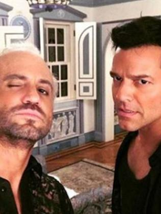 Edgar Ramirez and Ricky Martin as Gianni Versace and Antonio D'Amico. Picture: Instagram