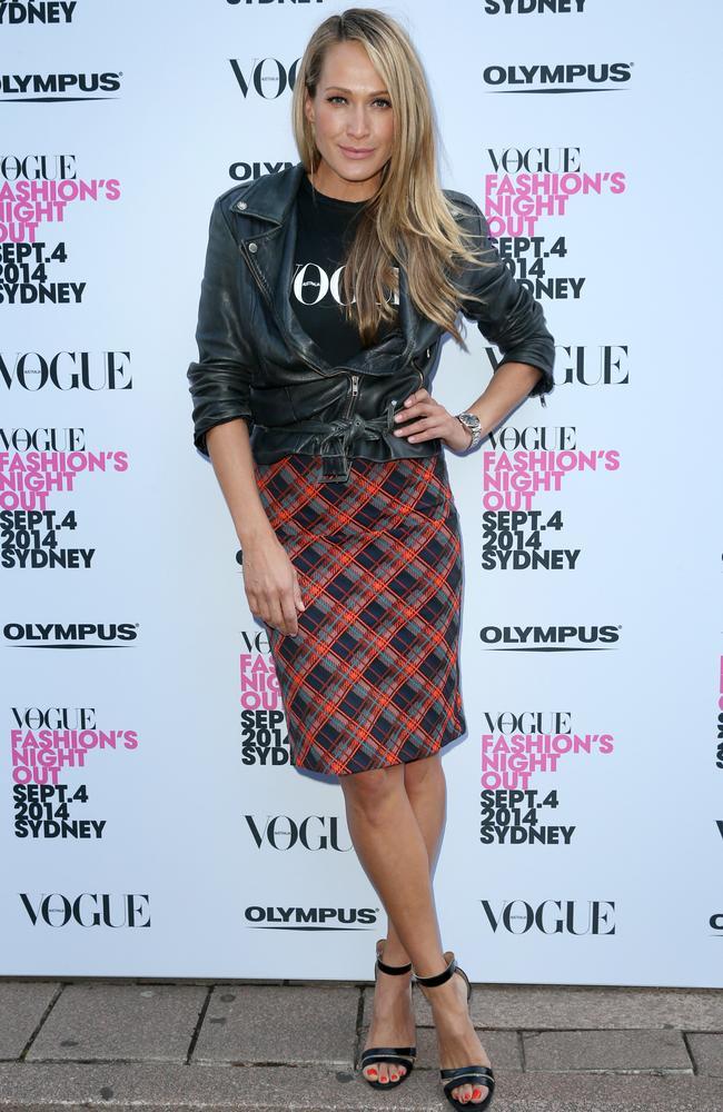 Erika Heynatz at the Vogue Magazine launch. Picture : Richard Dobson