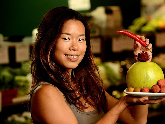 Lucinna Chua, from The Asian Grocer, in Adelaide Central Market.