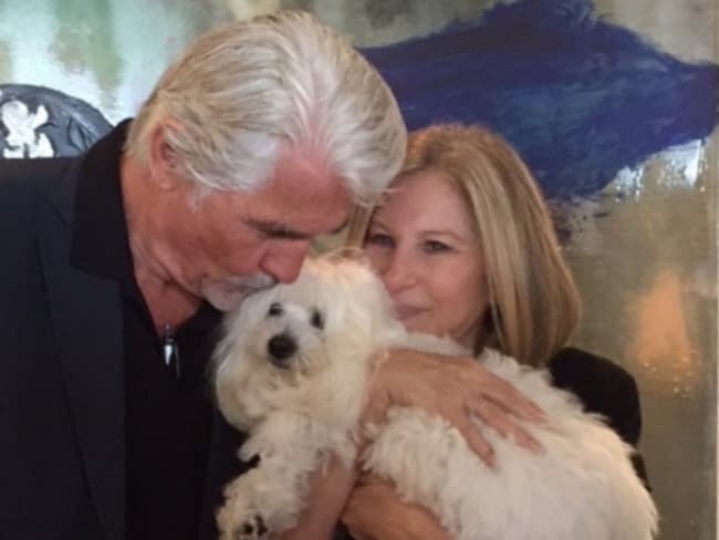 Barbra Streisand, husband James Brolin and Sammie. Picture: Instagram