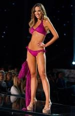 Monika Radulovic, Miss Australia 2015 competes in the swimsuit competition during the 2015 Miss Universe Pageant on December 20, 2015 in Las Vegas. Picture: Miss Universe