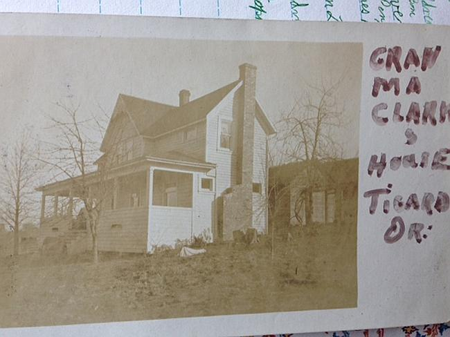 Where he came from ... a historical photo of Marvin Clark's home in Tigard, Oregon. Pictu