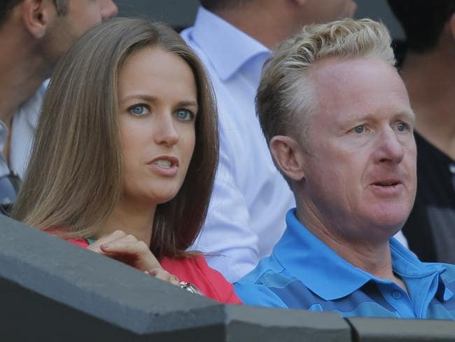 Andy Murray's girlfriend, Kim Sears, watches his match against Grigor Dimitrov.