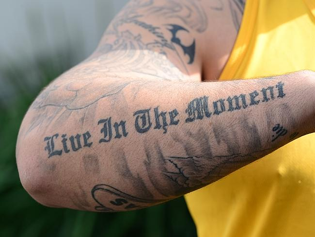 The East Timorese were the inspiration for this tattoo on Pvt Haven's forearm.
