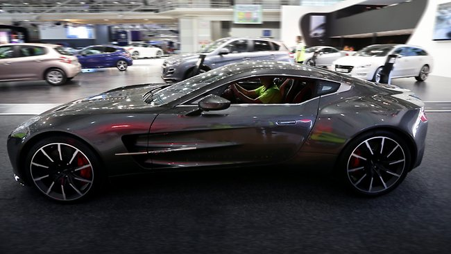 $2m aston martin one-77 goes on display at the australian