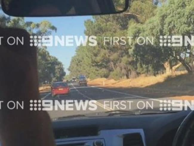 The fatal crash was caught on film. Source: Channel Nine.