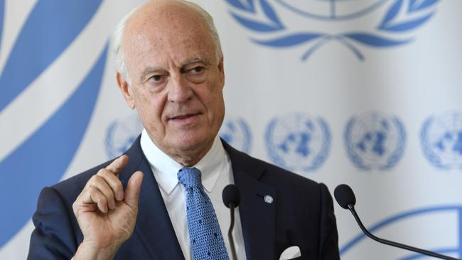 UN Special Envoy for Syria, Staffan de Mistura, said rebel forces cannot win. Picture: Martial Trezzini