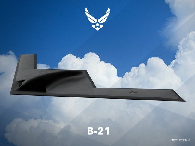 "An artists rendering released by Northrop Grumman depicting a concept for the B-21 ""Raider"". With the early retirement of the existing US bomber fleet, much rests on whether or not this project is on time and on budget. Picture: Northrop Grumman"