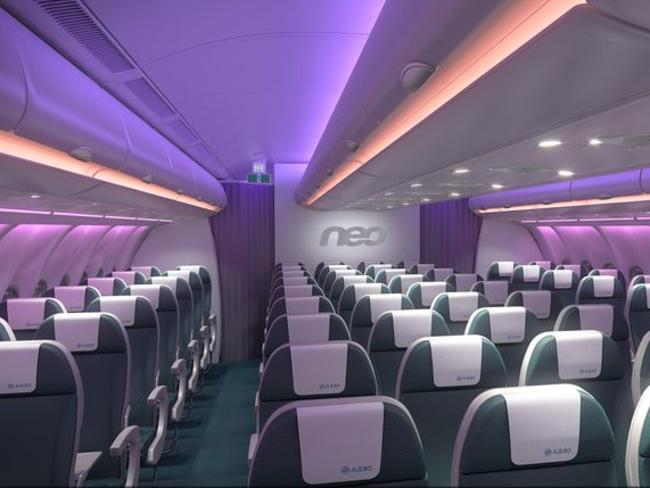 Inside the Airbus A330neo. Picture: Airbus.