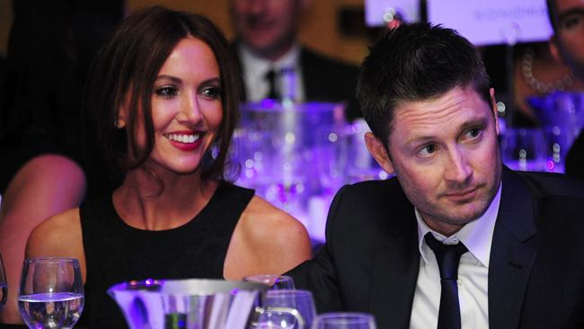 Michael Clarke and his wife Kyly at the Sail With the Stars fundraiser for The Loyal Foundation. Picture: Supplied