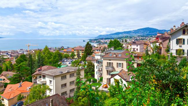 Montreux in Leman Riviera, Switzerland