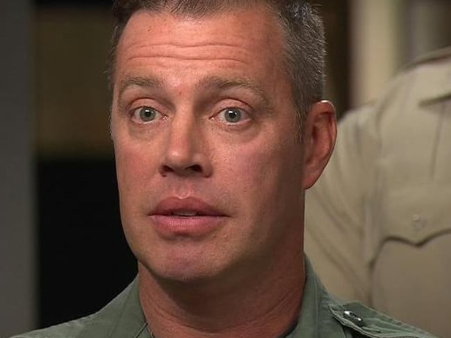 Officer Dave Newton responded to the Vegas shooting. Picture: CBS News