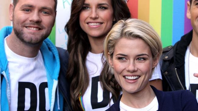 Brian McFadden, girlfriend Vogue Williams and Rachel Taylor served as ambassadors for Marie Claire?s ?I Do? campaign.