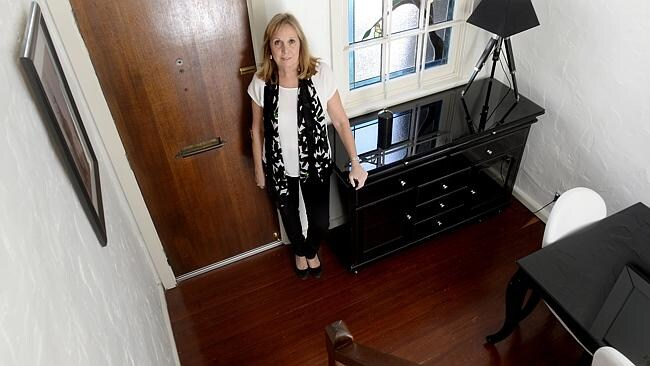 Di Ross at her Surry Hills Property. Occupying a 25sq m footprint, could be one of Sydney's smallest footprints. Picture: John Appleyard
