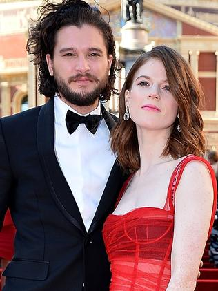 Rose Leslie and Kit Harington attend The Olivier Awards 2017 in April. Picture: Getty