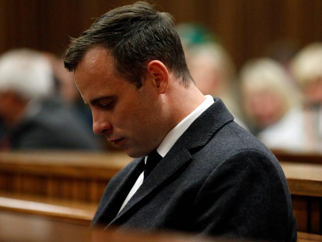 Pistorius was found guilty of murdering his fiancee. Picture: AFP