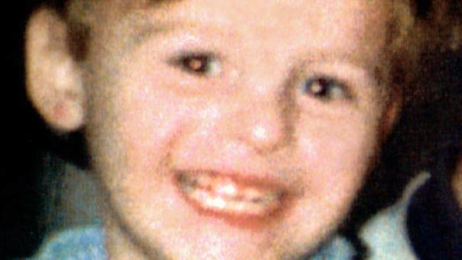 British child infant murder victim James Bulger, killed in 1993 after being lured from a Liverpool shopping centre by Robert Thompson, 11 and Jon Venables, 11.