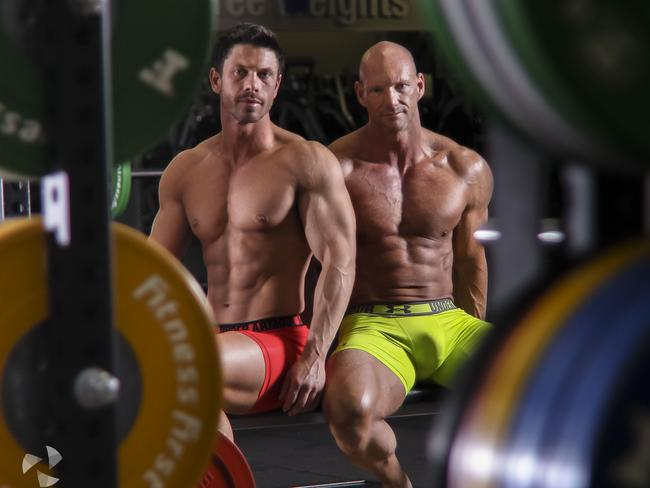 Chris Glebatsas and Anthony McDonough of Lqd Skin Care met at the gym and fell in love. Picture: Jonathon Tether