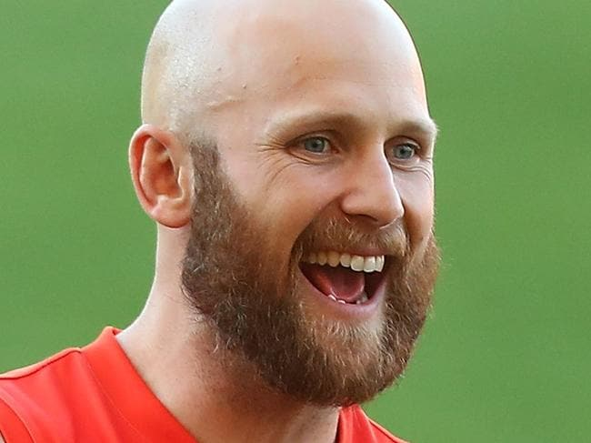 GOLD COAST, AUSTRALIA - AUGUST 15:  Gary Ablett smiles during a Gold Coast Suns AFL training session at Metricon Stadium on August 15, 2017 in Gold Coast, Australia.  (Photo by Chris Hyde/Getty Images)