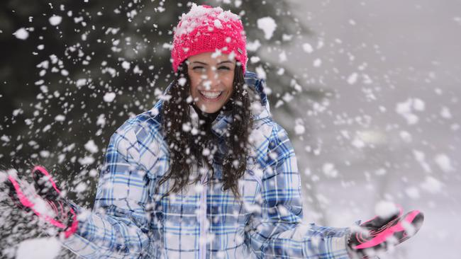 Lulu Freedman is overjoyed with the fresh snow at Falls Creek, with forecasters tipping up to 100cm of new snow this week.