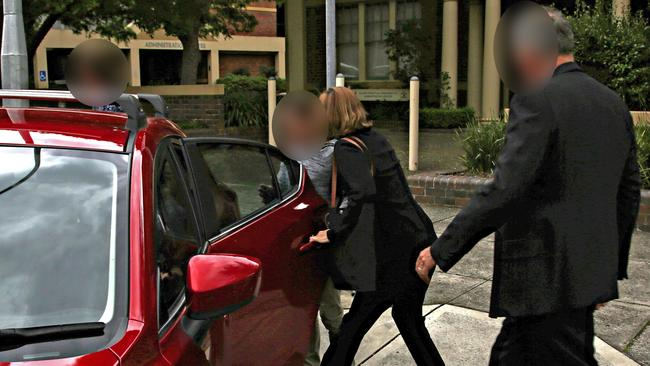 A 12-year-old boy accused of raping a six-year-old girl leaves Hornsby Local Court. Picture: Adam Yip