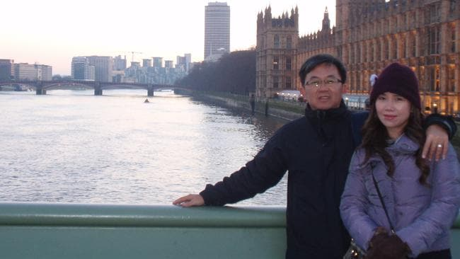 Jennifer Chong and husband Chong Ling Tan who was on board MH370. Picture: Supplied