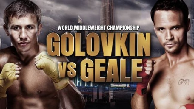 Gennady Golovkin v Daniel Geale is this Sunday (AEST) on Main Event.