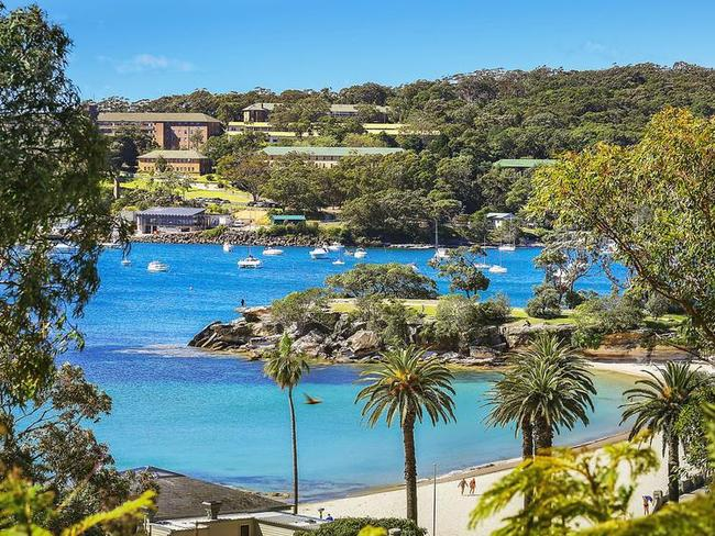 The home is only a short stroll from Balmoral Beach.