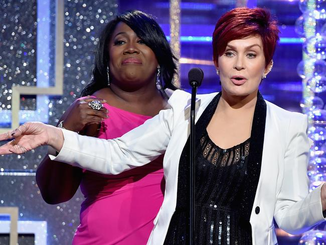Sharon Osbourne speaks onstage during The 41st Annual Daytime Emmy Awards at The Beverly Hilton Hotel.