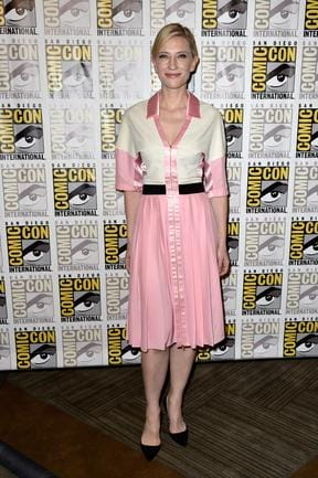 "Cate Blanchett attends ""The Hobbit: The Battle Of The Five Armies"" Press Line during Comic-Con International 2014. Picture: Getty"
