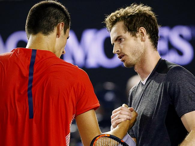 Andy Murray showed his respect for Bernard Tomic in the post-match press conference.