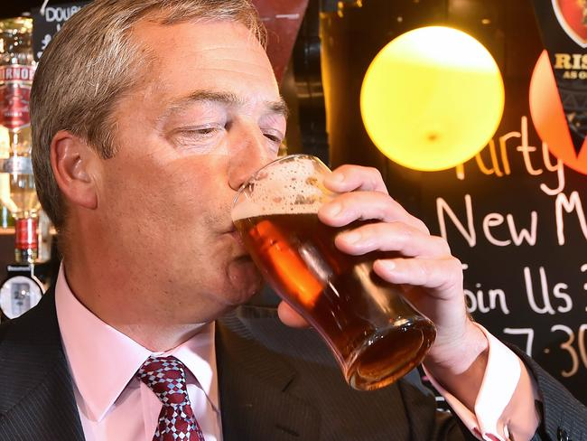 Drink up: UKIP leader Nigel Farage reckons his party is on course to deliver a political earthquake.