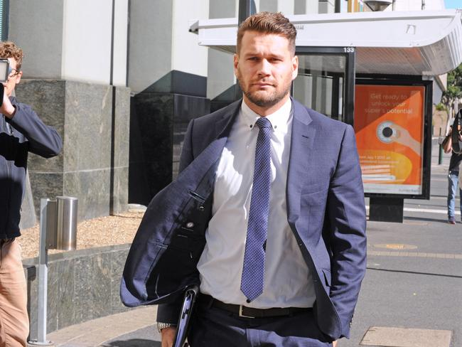 Harris' lawyer Remy Kurz outside court last week. Picture: John Gass/AAP