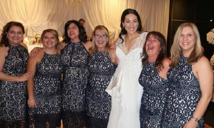 'Worst nightmare': Six women turn up to wedding wearing the same $160 dress