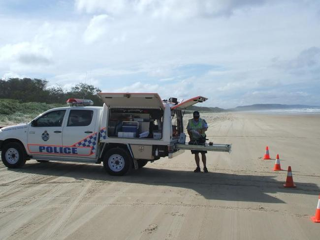 A QLD police Roadside Drug Testing Unit, which can be anywhere at anytime. Picture: Courtesy Queensland Police