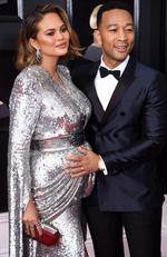 Chrissy Teigen (L) and recording artist John Legend attend the 60th Annual GRAMMY Awards at Madison Square Garden on January 28, 2018 in New York City. Picture: Dimitrios Kambouris/Getty Images for NARAS\