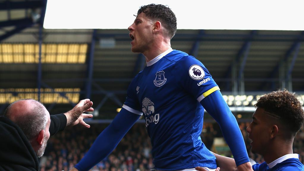 Ross Barkley of Everton celebrates.